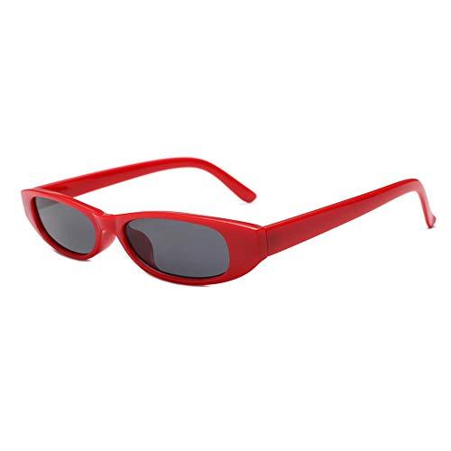 Gafas de sol cuadradas pequeñas europeas y americanas, visera de ojo de gato de moda para mujer, marco rojo, pieza gris