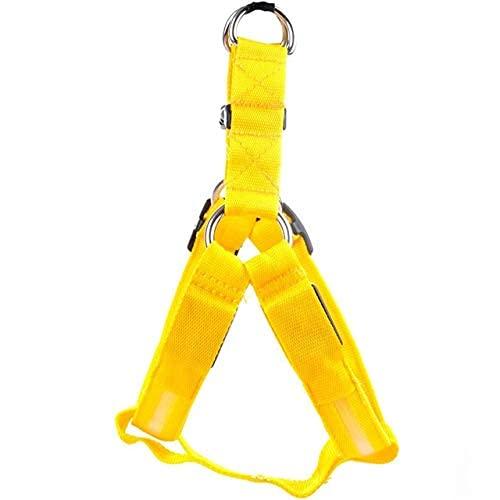 Arnés para mascotas, chaleco, luz LED, arnés de nailon para perros, Collar de seguridad, correa de perro ajustable, chaleco para collar de perro LED, accesorios para mascotas