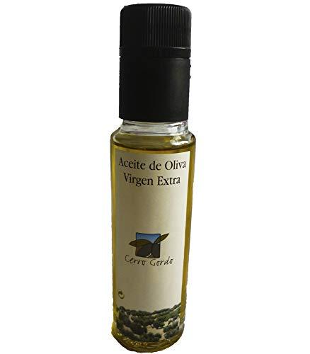 Cerro Gordo - Aceite de oliva Virgen Extra , categoria superior, pack 3 botellas cristal de 100 ml
