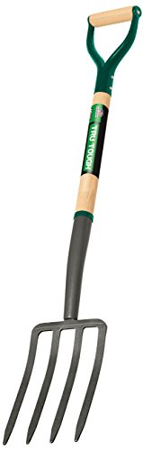 Truper 30293 Tru Tough Spading Fork, 4-Tine, D-Handle, 30-Inch