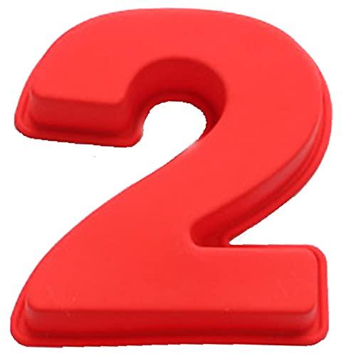 Stampo per Dolci a Forma di Numero 18 Stampo per Torta in Silicone Rosso Numero Tortiera Silicone Compleanno Stampi Numero 10 Pollici Stampo in Silicone per Compleanno Anniversario Matrimonio (No 2)