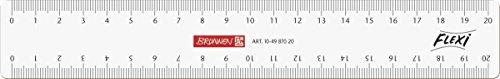 Brunnen 104987020 Flexi-Lineal (für Schule und Büro 20 cm, unzerbrechlich, glasklar, für Links- und Rechthänder)