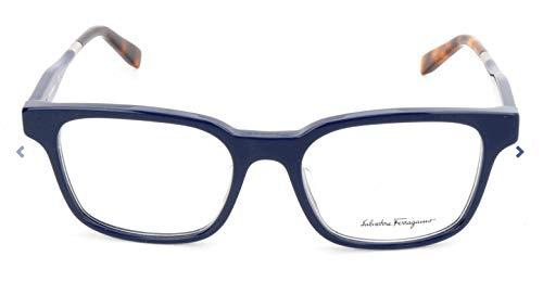 Ferragamo SF2787 rechthoekig brilmontuur 53, blauw