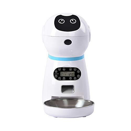 NLYWB 6 14 alimentador automático, dispensador de Comida para Perros, cuantificación programada, Cuenco Acero Inoxidable, Fuente alimentación Doble, Apto Gatos, Otras Mascotas, tamaño x Pulgadas