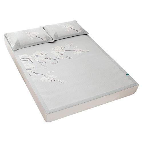 PIVFEDQX Ratán Verano Dormir Colchón Fresco Alfombrillas Almohadillas Seda de Hielo Suave Aire Acondicionado Estera de Cama Plegable 2 tamaños (Tamaño: 150X200CM)