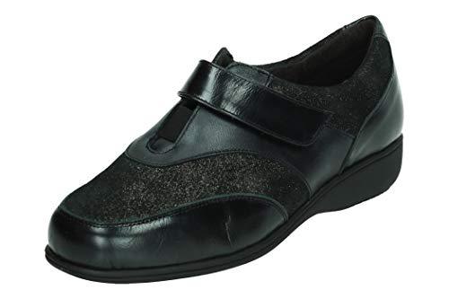 DOCTOR CUTILLAS 53527 MOCASINN Klettverschluss-Schuhe, Schwarz - Schwarz - Größe: 36 EU