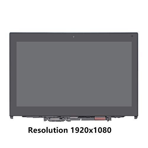 FTDLCD 12.5'' IPS LCD LED Pantanlla Táctil Digitalizador Asamblea con Marco Reemplazo de Portátil para Lenovo ThinkPad Yoga 260 20FD (Resolution 1920x1080)