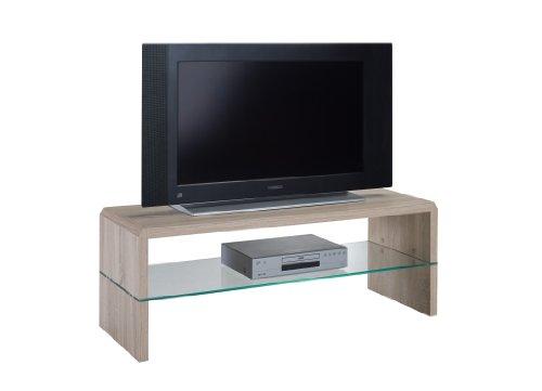 Presto mobilia 11107 TV-Rack Ulan 25 110x40x40 cm Sonoma Eiche hell/Eiche sägerau hell