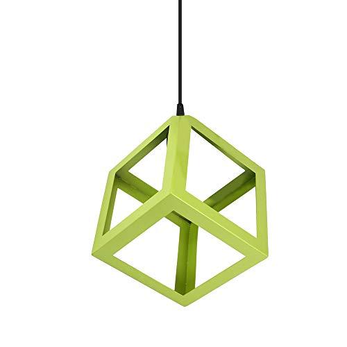 GDRAVEN Lampadario moderno da soffitto, geometrico – Shades lampadario per camera da letto, cucina, risparmio energetico, luce rossa., verde, Goldstern
