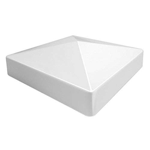 Kiavetta PVC Flat (Pyramid) External Post Cap 5' x 5' (6 Caps)