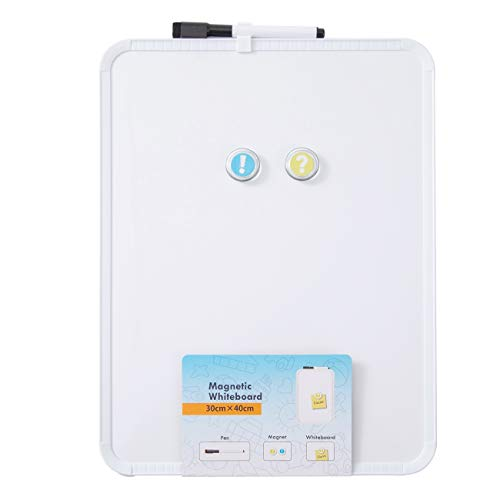 DumanAsen Magnetisches Whiteboard, trocken abwischbar Magnettafel – inkl. Marker, 30cm x 40cm