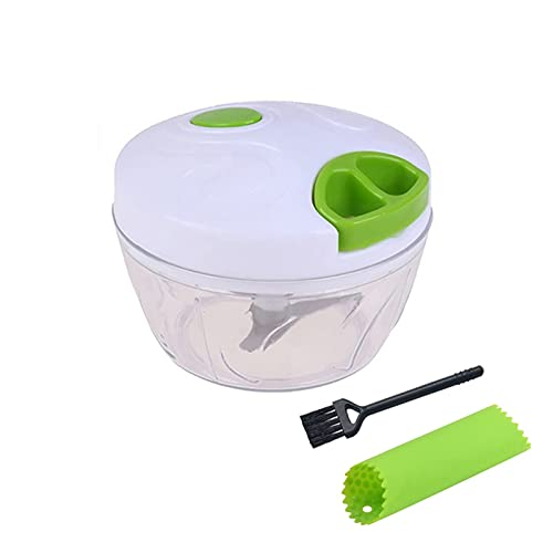 Hand Chopper Manual Rope Food Processor Silcer Shredder Salad Maker Garlic Onion Slicer Cutter Kitchen Tool(Garlic press)