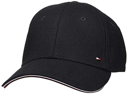 Tommy Hilfiger Elevated Corporate Cap Gorro/Sombrero, Black, OS para Hombre