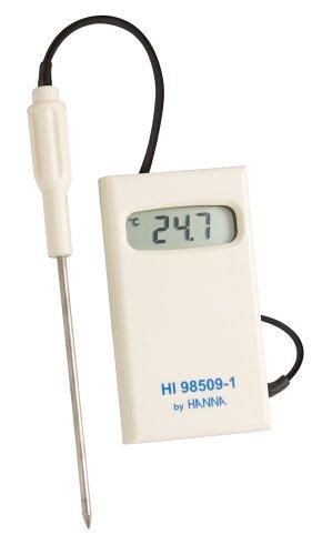 Hanna Instruments HI98509-1 Checktemp Termómetro digital con sonda de acero inoxidable, -50 C a 150 grados C temperatura nominal