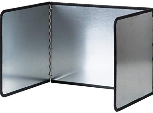 XINBADA Oil Splash Insulation Board- Splatter Screen for Frying Splatter Guard Stainless Steel Splatter Screens for Fine Mesh Oil Splash Guard 3 Sided/3 Sided