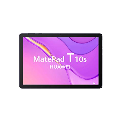 HUAWEI MatePad T10s - Tablet de 10.1' con pantalla FullHD (WiFi, RAM de 3GB, ROM de 64GB, procesador Kirin 710A, Altavoces cuádruples, EMUI 10.1, Huawei Mobile Services), Color Azul