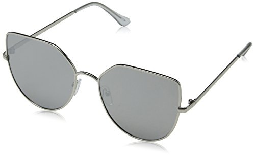 Jeepers Peepers Damen JP-1838 Sonnenbrille, Silber (Silver), 57