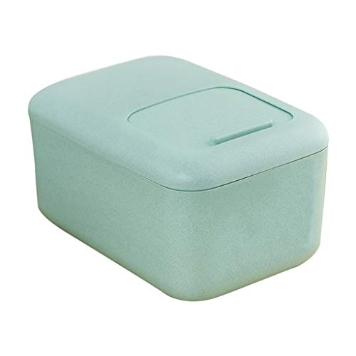 Jlxl Grande Contenedor para Pienso, 12 Kg Fibra de Trigo Comida Sec Envase Caja De Almacenamiento Marcado con Escala (Color : B)