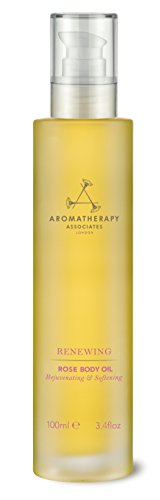 Aromatherapy Associates Renewing Rose Body Oil 3.4Floz, a sumptuous blend of precious essential oils rehydrates and nurtures even drier skin. Aromas of uplifting Rose and Neroli mingle with Geranium.