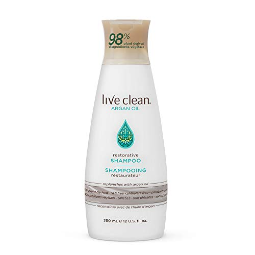 Live Clean Argan Oil Restorative Shampoo, 12 oz.