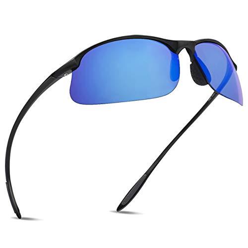 MAXJULI maxjuli Polarisierte Sport Sonnenbrille Herren Damen Halbrahmen Tr90 Laufen Angeln MJ8002