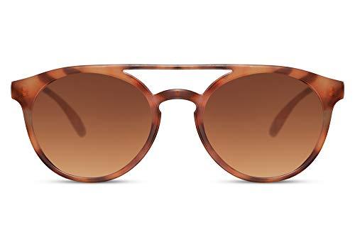 Cheapass Zonnebrillen Rond Dubbele Brug Platte Bovenkant Vintage Retro Zonnebrillen UV400 bescherming voor Heren en Dames