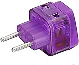 AC Power Travel Adapter Plug for Europe Greece (Spain Portugal) Croatia Russia Ukraine Thailand Indonesia Brazil Chile Peru Bolivia/with Two Plug-in Ports and Built-in Surge Protector!