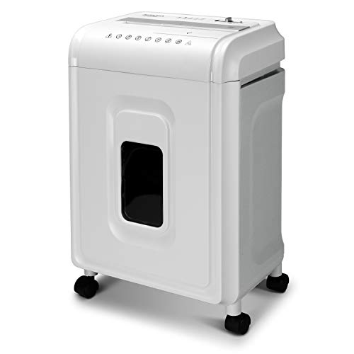 Aurora High-Security 8-Sheet Micro-Cut Paper, CD/DVD and Credit Card Shredder, White/Gray (Office Product)