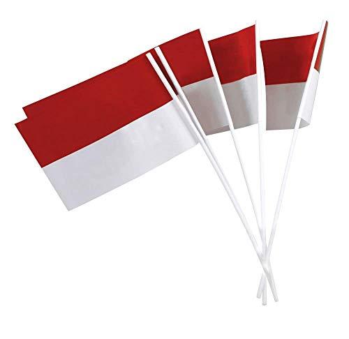 Deitert Papierfähnchen (regenfest), rot-weiß, 50 Stück, für Party-Deko oder Straßenfest