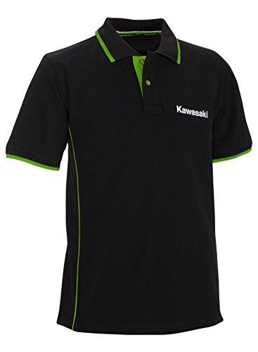Kawasaki Sports Polo Kurzarm ! Polo Shirt ! schwarz grün (S/M)