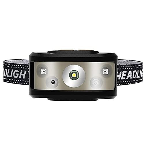 CNmuca Sensor de luz forte USB inteligente pesca noturna portátil ao ar livre Mini sensor de farol forte farol preto