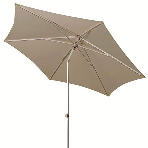 Doppler ACT Push Up Parasol, Ø ca. 310 cm grijs.