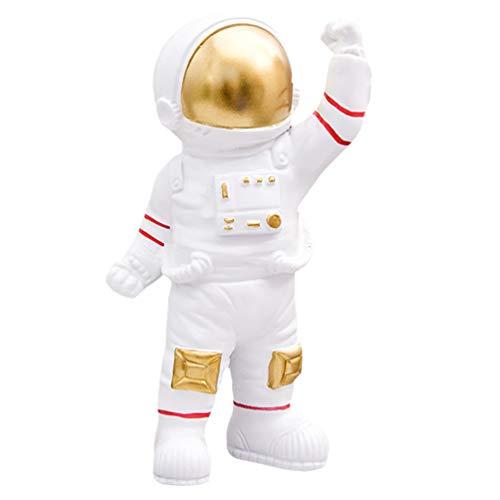 VOSAREA Astronauten Figur Spielzeug Spaceman Statuen Skulptur Modell Weihnachten Halloween Geburtstag Weltraum Thema Party Geschenke Tischdeko Auto Armaturenbrett Ornament