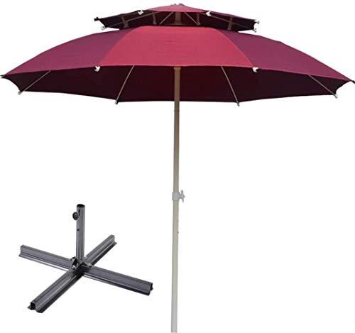Garden Parasol Parasol, Sombrilla Sombrilla for el Patio al Aire Libre Patio Parasol Canopy Playa Campamento de Protección Solar (Color : Red, Size : 3m)