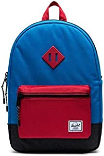 Herschel Heritage Youth Kid's Backpack, Imperial Blue Red/Black Crosshatch, One Size