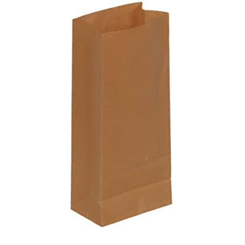Fast Pack Sachet Kraft - Sac Papier - Sac Alimantaire - Pochette Kraft -0 Recyclable (7,5 * 4 * 16 cm 100pcs)