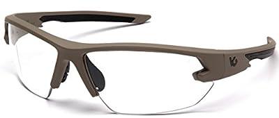 Venture Gear Semtex 2.0 Tan Frame Clear Anti Fog Lens, VGST1410T