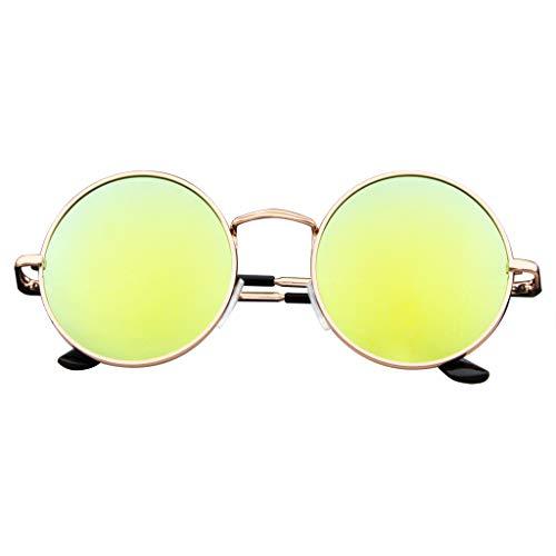 Emblem Eyewear John Lennon Ha Ispirato Occhiali Da Sole Tondo Hippie Sfumature Retrò Colorate Lenti (Verde)