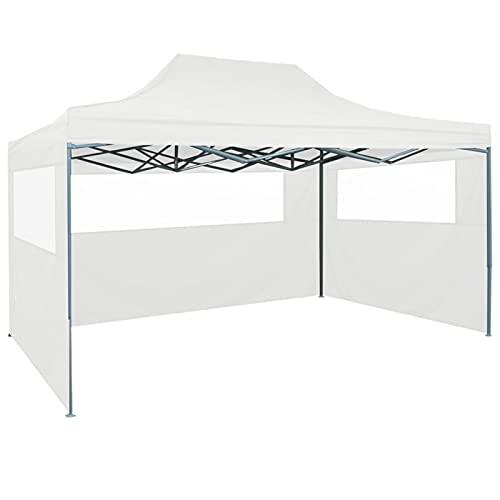 Festnight Carpa Plegable 3x4.5m con Paneles Laterales, Gacebos y Cenadores Plegable Impermeable Tienda de Campaña,para Festivales, Bodas y Campamentos