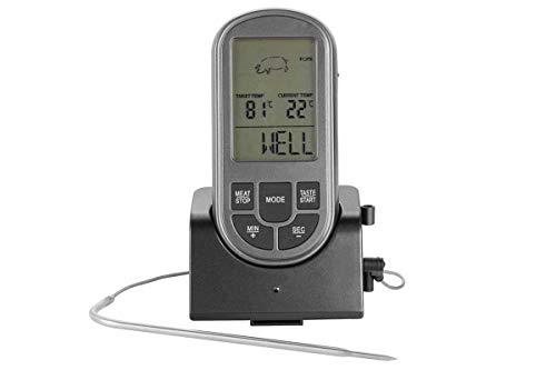 Florabest Funk Grill Thermometer mit 8 Garprogammen