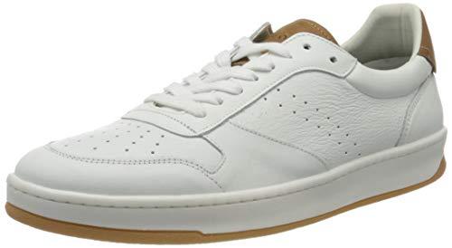 Marc O'Polo Herren 00225733501100 Sneaker, Weiß (White/Cognac 125), 42 EU