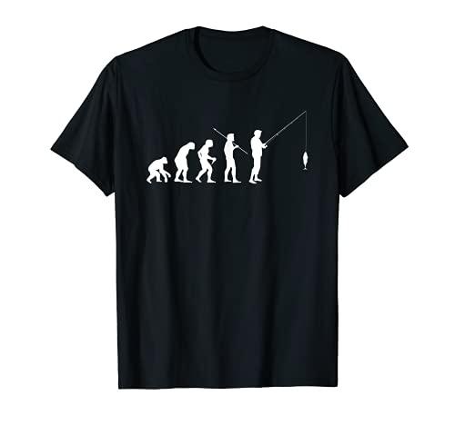 Evolución Humana del Hombre Regalo del pescador Camiseta