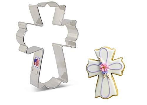 Ann Clark Cookie Cutters Large Fancy Cross Cookie Cutter by Flour Box Bakery, 4.5'