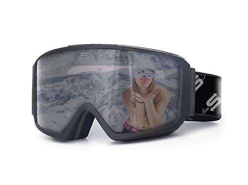 Polarized Ski Goggles OTG fit Over Glasses with Anti Fog Locking Magnetic Lens Comfortable Foam Wide...