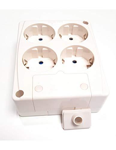 Base schuko de 4 tomas 16A/250V~ Electro Dh 36.470/4B/B 8430552106981