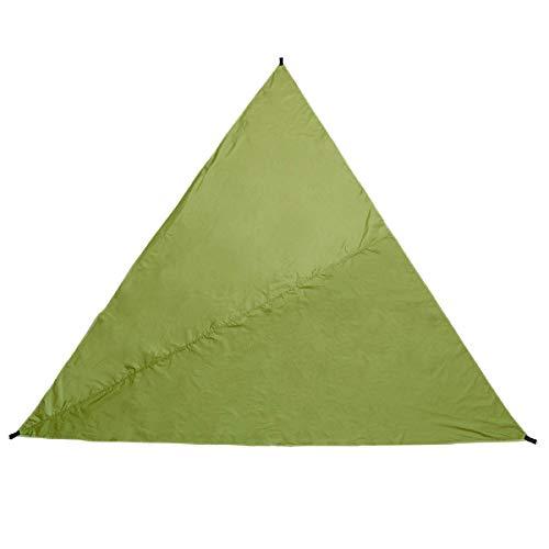 Asffdhley Lona De Hamaca 3m Triangular Impermeable Carpa Sombrilla Jardín Patio Toldo Toldo Sol Refugio Camping (Size:30 * 300 * 300cm; Color:Dark Green)