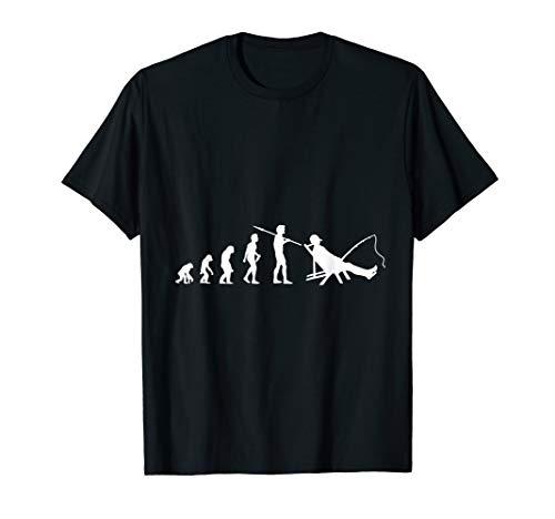 Angler Evolution Anglen Fischer Fisch Angelrute Geschenk T-Shirt