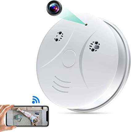 DWSFADA Hidden Wireless Camera Smoke Detector Nanny Camera with Motion Detection Alarm