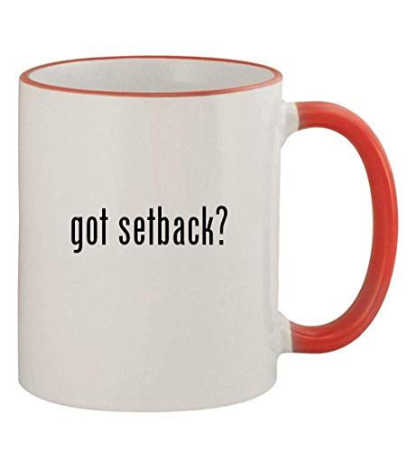got setback? - 11oz Colored Handle and Rim Coffee Mug, Red