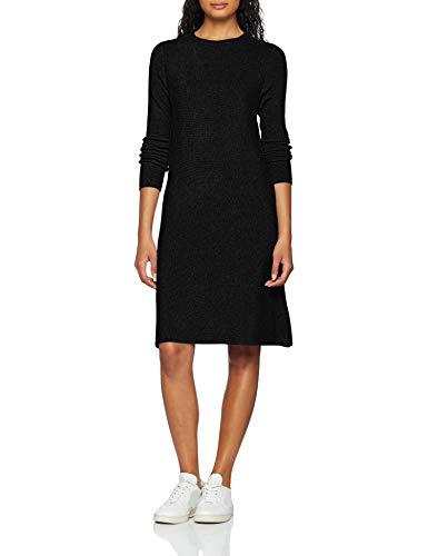 VERO MODA Damen Kleid VMNANCY LS Knit Dress NOOS, Schwarz (Black), 42 (Herstellergröße: XL)